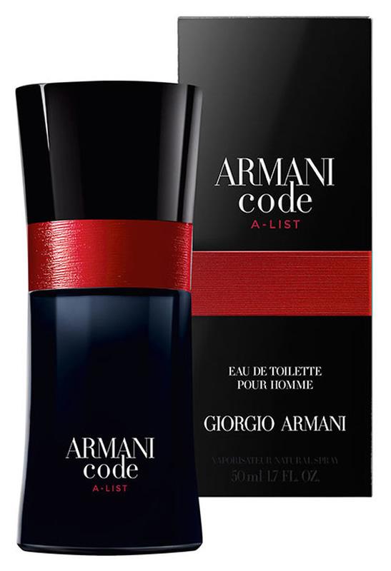 83869e13b95 Caja y botella de 50 ml de la colonia Armani Code A-List