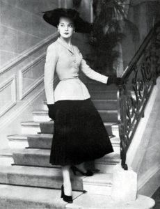 Modelo New Look de Dior en 1947
