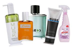 Productos de perfumería con Musk sintético